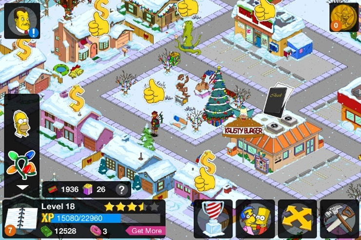 Игра The Simpsons: Tapped Out