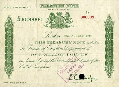 Банкнота 1 000 000 фунтов