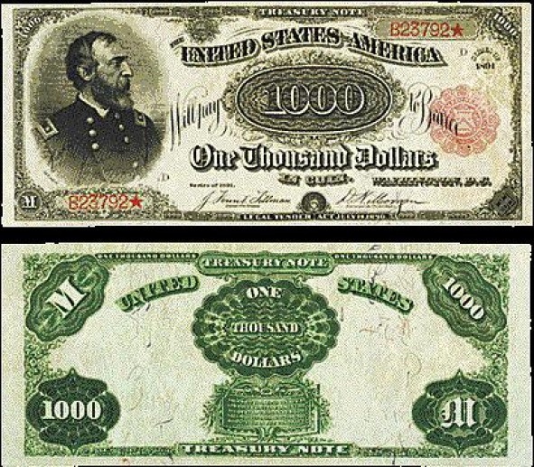 Red Seal $ 1000 1891 года